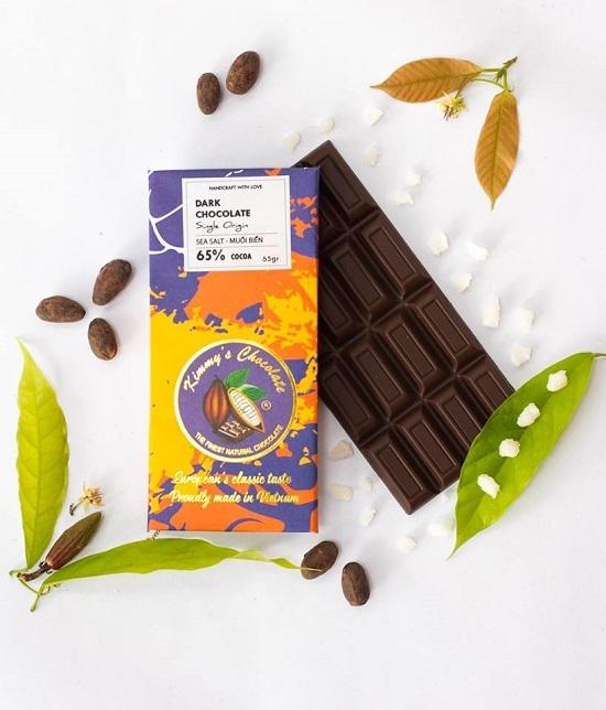 Socola muối biển là sản phẩm của thương hiệu Kimmys Chocolate.