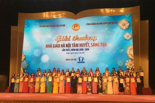 40 nhà giáo xuất sắc được vinh danh tại Lễ trao giải Nhà giáo Hà Nội tâm huyết, sáng tạo