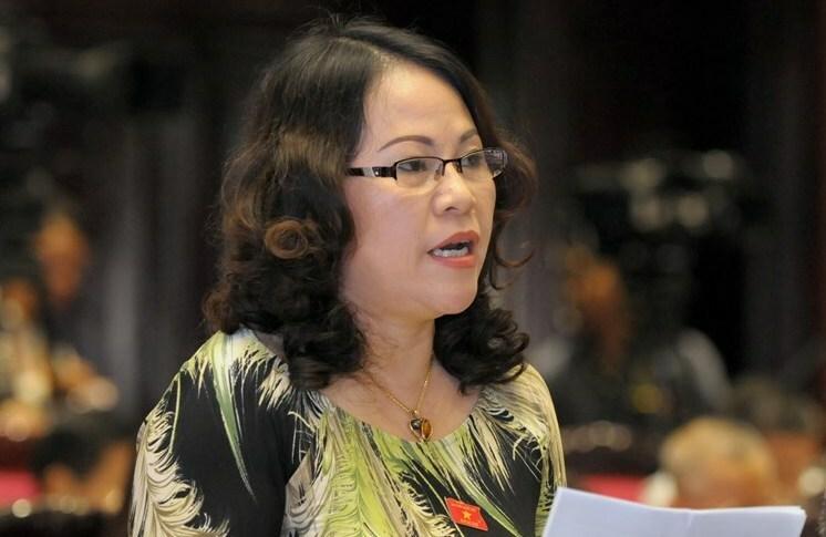 Đại biểu Ngô Thị Minh. Ảnh:Trung tâm báo chí Quốc hội