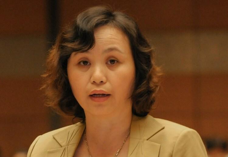 Đại biểu Cao Thị Xuân. Ảnh:Trung tâm báo chí Quốc hội