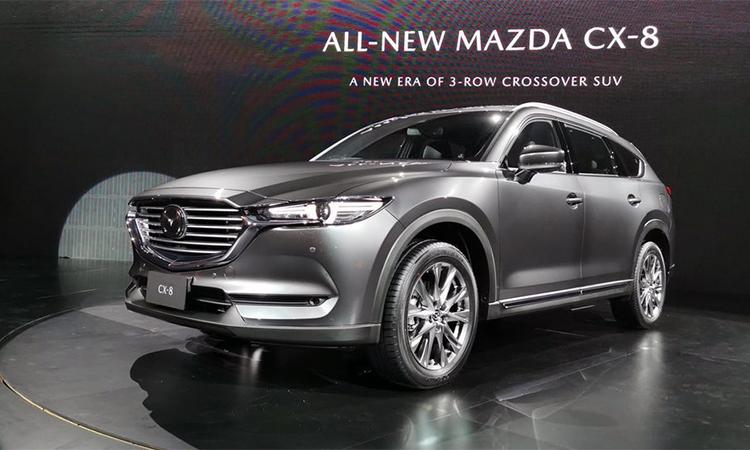 Mazda CX-8 thế hệ mới ra mắt tại Thái Lan hôm 12/11. Ảnh: Autospinn.