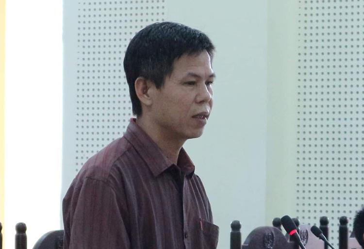 Bị cáo Khánh tại phiên toà.