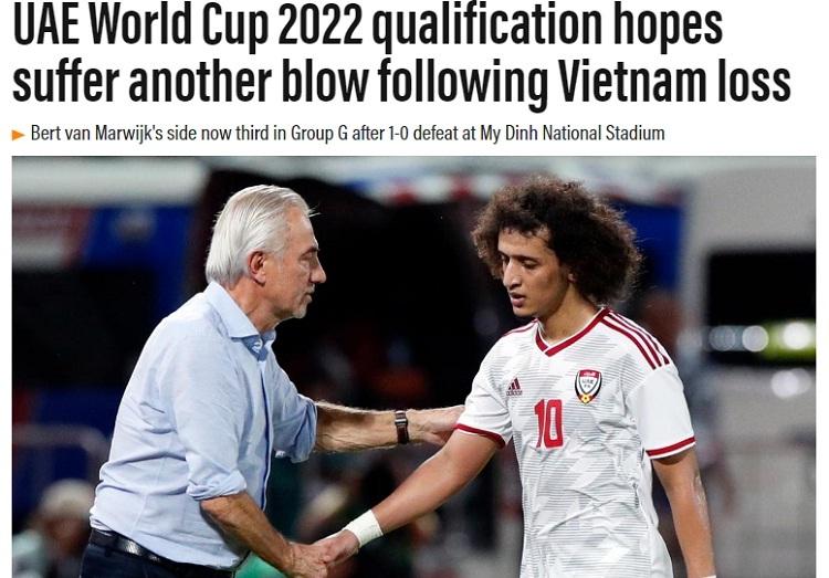 Báo UAE: 'Việt Nam giành mọi thứ trong bảy phút'