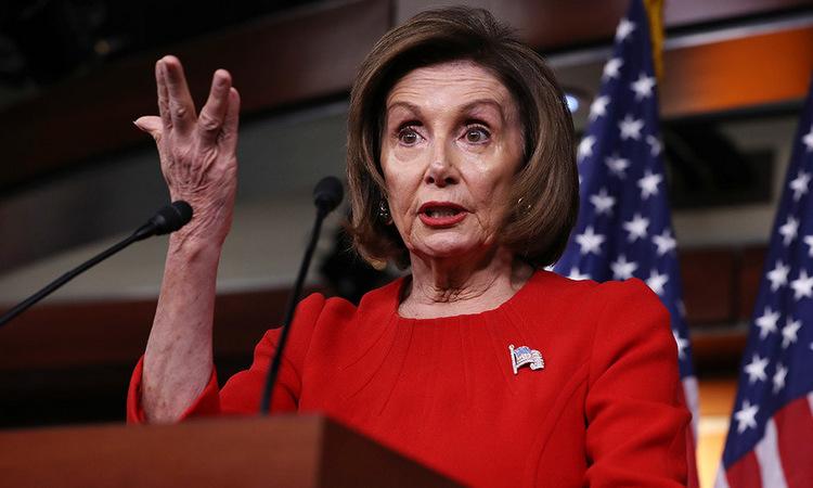 Chủ tịch Hạ viện Pelosi trong cuộc họp báo tại đồi Capitol hôm 14/11. Ảnh: AFP.