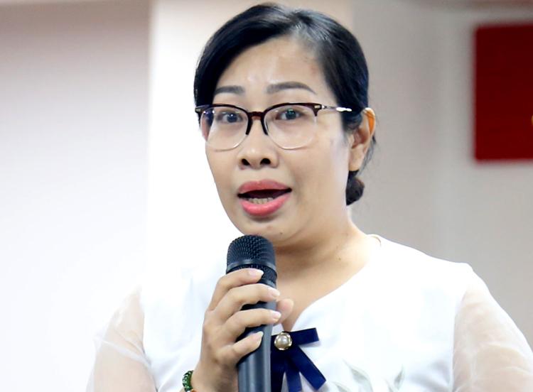 Bà Nguyễn Thành Phụng. Ảnh: Hữu Công.