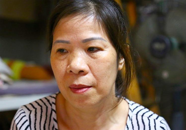 Bà Nguyễn Bích Quy tại nhà riêng trong ngày bị khởi tố. Ảnh: Phạm Dự.