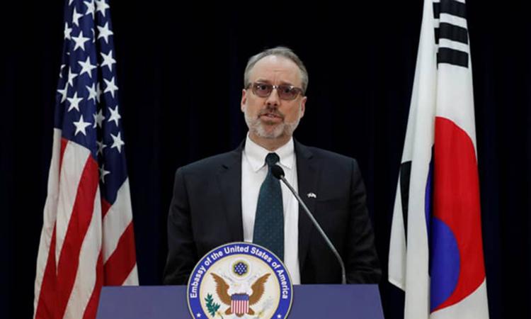 Mỹ bỏ họp khi bàn ''phí bảo vệ'' với Hàn Quốc -