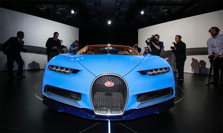 Bugatti Chiron - siêu phẩm tốc độ giá hơn 3 triệu USD. Ảnh: Jason Alden/Bloomberg.