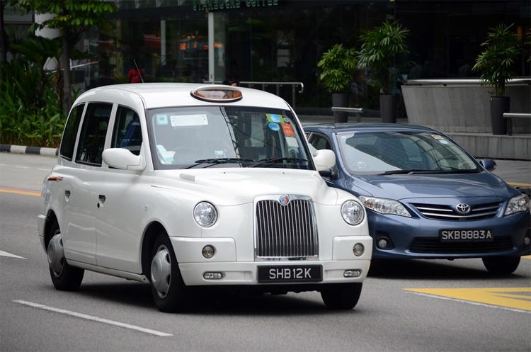 TX4 cũng làm taxi ở Singapore. Ảnh: Flickr