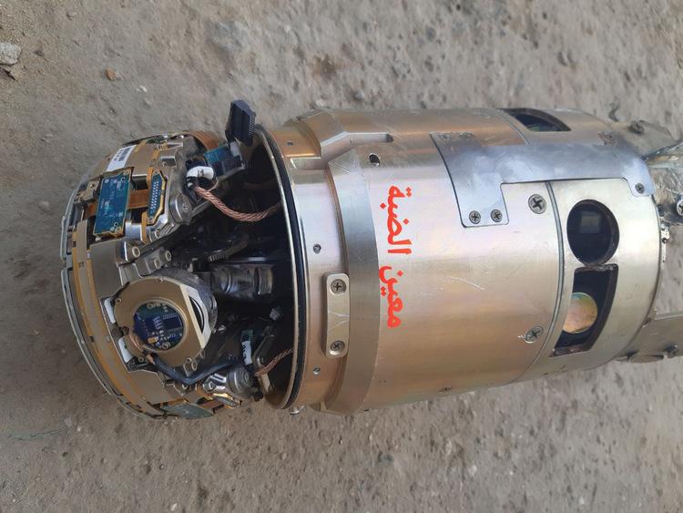 Cụm đầu dò và ngòi nổ tên lửa Tamir rơi xuống Dải Gaza hôm 12/11. Ảnh: Twitter/Jtruzmah.