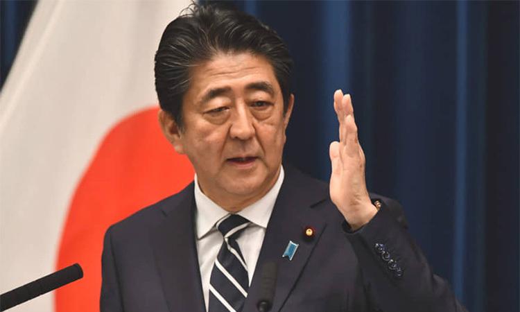Thủ tướng Nhật Bản Shinzo Abe phát biểu tại Tokyo tháng 7 năm nay. Ảnh: AFP.