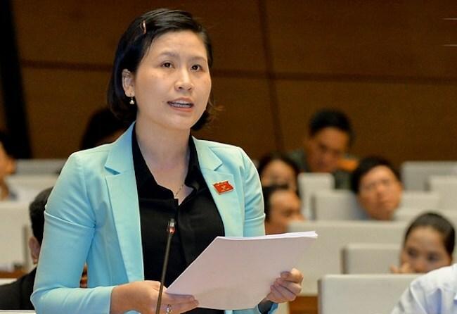 Đại biểu Mai Thị Kim Nhung. Ảnh: Trung tâm báo chí Quốc hội