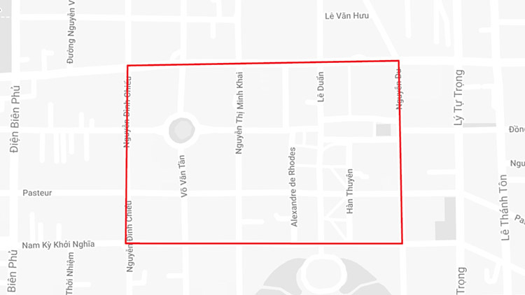 Cấm một loạt đường ở trung tâm Sài Gòn - ảnh 1