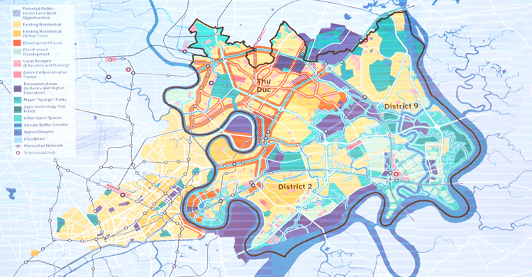 Khung phát triển khu đô thị sáng tạo TP HCM. Ảnh: Trung Sơn