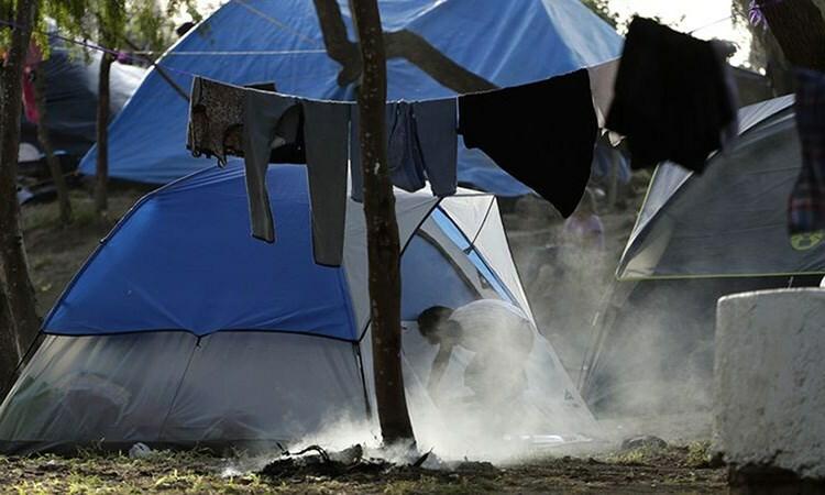 Khu trại tị nạn ở Matamoros, bang Tamaulipas, Mexico, tháng 11/2019. Ảnh: AP.