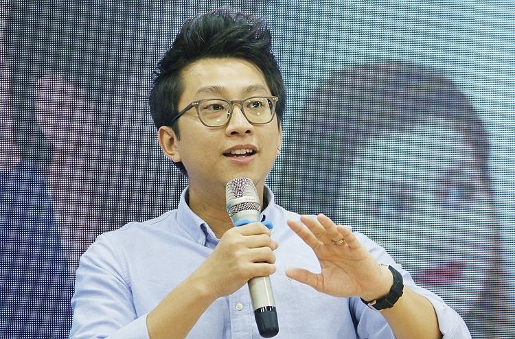 Anh Trần Minh Duy tại hội thảo chiều 23/11. Ảnh: Thanh Hằng