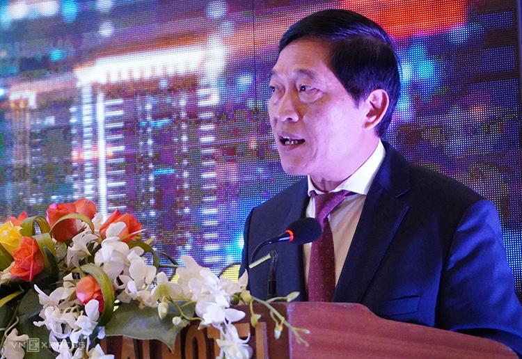 Thứ trưởng Trần Văn Tùng công bố các con số tổng kết sau ba ngày diễn ra Techdemo 2019.