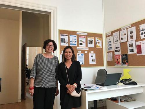 Đại diện công ty du học Cầu Xanh thăm trường Colleges de Paris tại Pháp