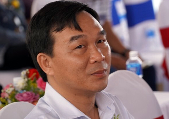Ông Lê Nguyễn Thanh Danh dự lễ khánh thành một dự án nhà ở xã hộitại TP Phan Thiết ngày 20/9. Ảnh: Việt Quốc.