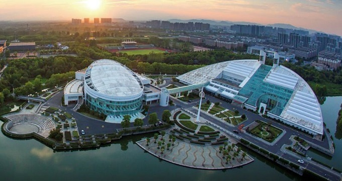 Một góc Đại học Chiết Giang nhìn từ trên cao. Ảnh: Nature