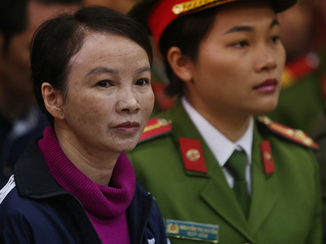 Bị cáo Trần Thị Hiền. Ảnh: Phạm Dự
