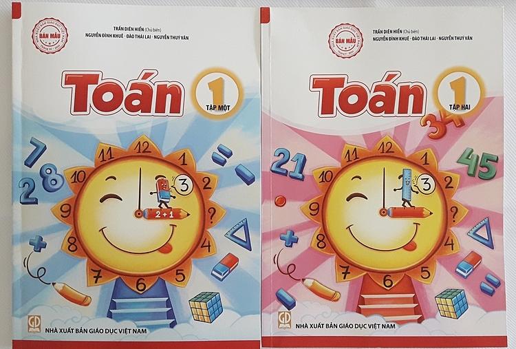 Sách Toán lớp 1 của Nhà xuất bản Giáo dục Việt Nam. Ảnh: Thanh Hằng