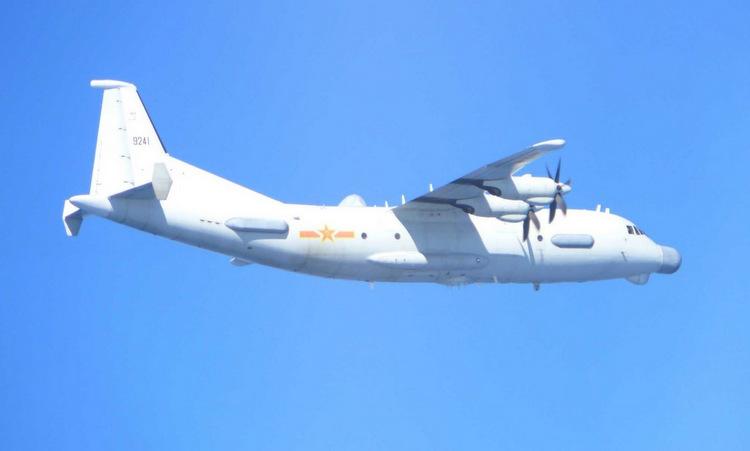 Trinh sát cơ Y-9 hoạt động trên biển Hoa Đông hồi năm 2018. Ảnh: JASDF.