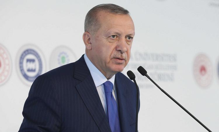 Tổng thống Erdogan phát biểu tại đại học Marmara hôm 29/11. Ảnh: AFP.