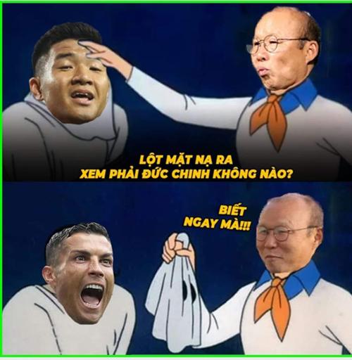 Đức Chinh hóa Ronaldo rồi.