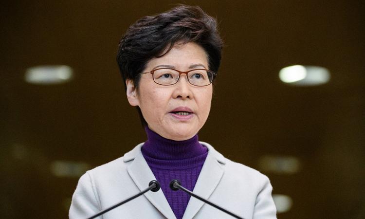 Carrie Lam dọa trả đũa luật Hong Kong của Mỹ - ảnh 1