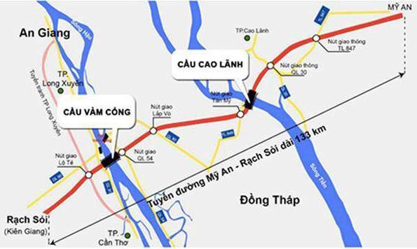 Hơn 4.500 tỷ đồng làm 26 km cao tốc ở miền Tây - VnExpress