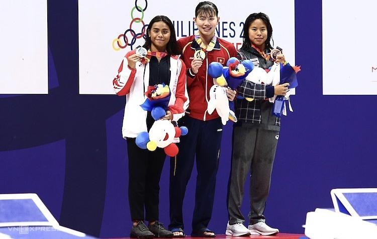 Ánh Viên đoạt HC Vàng thứ 20 cho bản thân cô. Ảnh: Phạm Đương.
