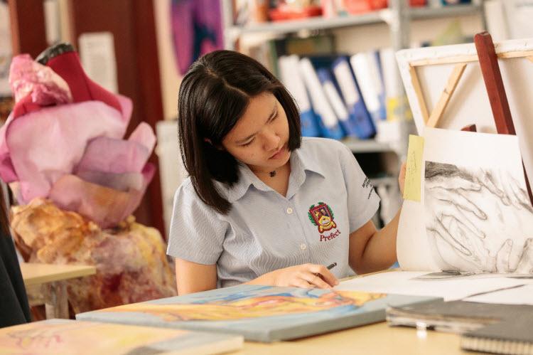 Tiết học nghệ thuật và thiết kế thuộc chương trình A Level tại BVIS.