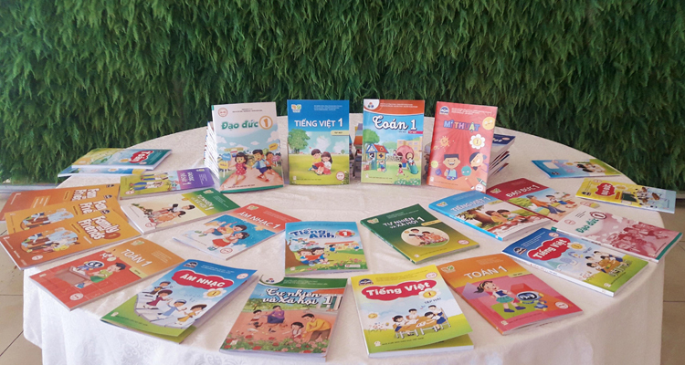 Sách giáo khoa mới của Nhà xuất bản Giáo dục Việt Nam. Ảnh: Thanh Hằng
