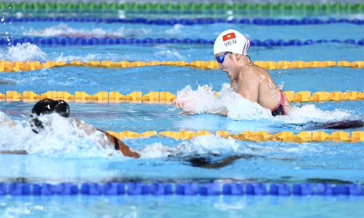 Ánh Viên mới có một HC vàng tại SEA Games 2019, nơi cô được giao chỉ tiêu đoạt tám chiếc. Ảnh: Phạm Đương.