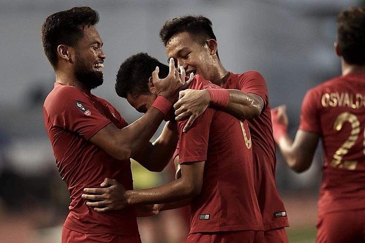 Indonesia mừng những bàn thắng dẫn trước. Ảnh: Lâm Thỏa.