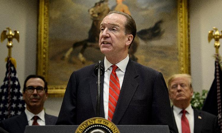 Chủ tịch Ngân hàng Thế giới (WB) David Malpass phát biểu ở Washington hồi tháng 2, khi còn là Thứ trưởng Bộ Tài chính Mỹ. Ảnh: AFP.
