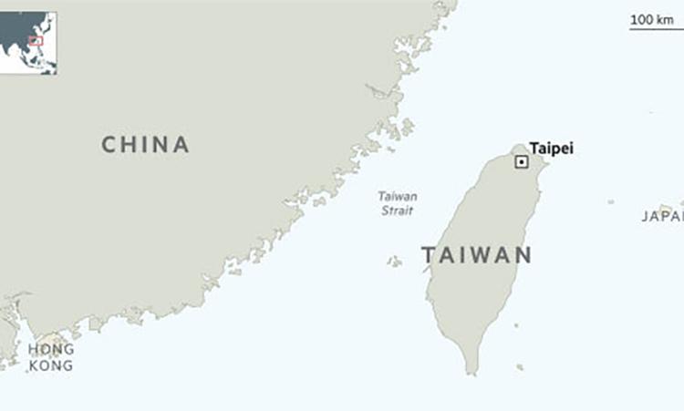 Vị trí eo biển Đài Loan. Đồ họa: FT.