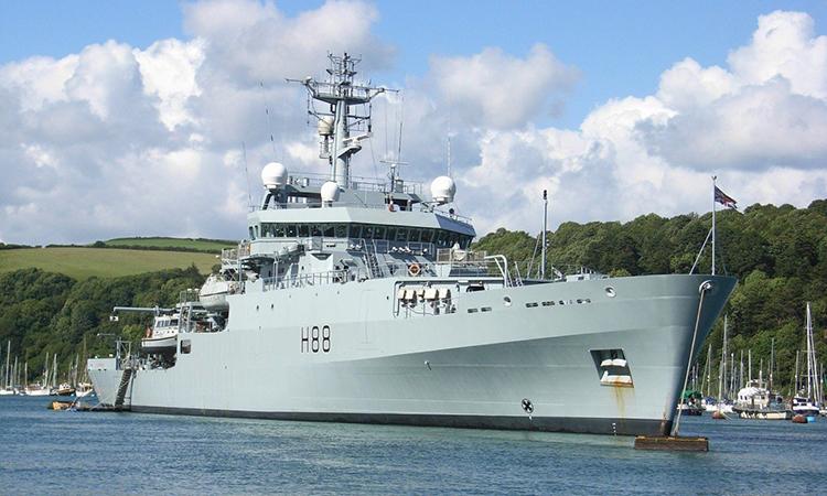 Tàu tuần dương HMS Enterprise ở Dartmouth, Anh năm 2008. Ảnh: SCMP.