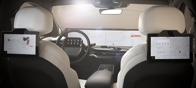 Byton, hãng startup xe điện Trung Quốc, có kế hoạch ra mắt ôtô đầu tiên, M-Byte, năm sau tại Trung Quốc với màn hình 48 inch. Ảnh: BYTON.