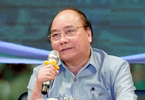 Thủ tướng tại buổi đối thoại với nông dân lần một ở Hải Dương năm 2018. Ảnh:VGP/Quang Hiếu.