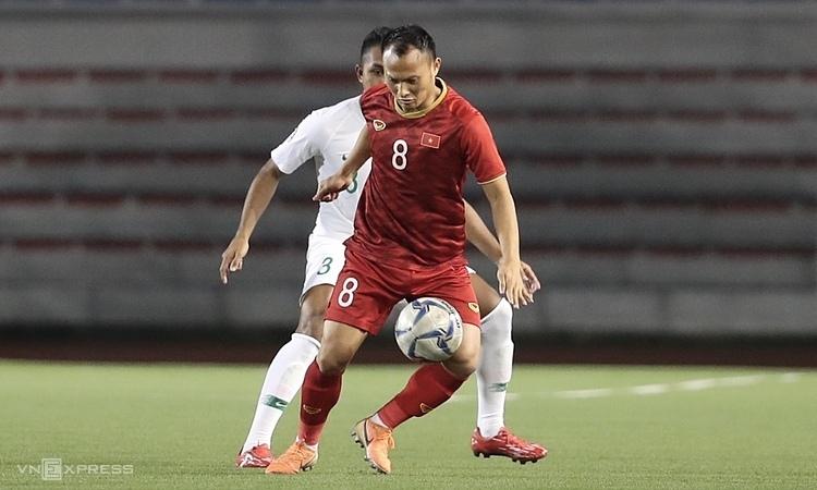 Trọng Hoàng là cầu thủ duy nhất còn sót lại từ SEA Games 2009. Anh dự Đại hội năm nay theo suất một trong hai cầu thủ quá tuổi. Ảnh: Đức Đồng.