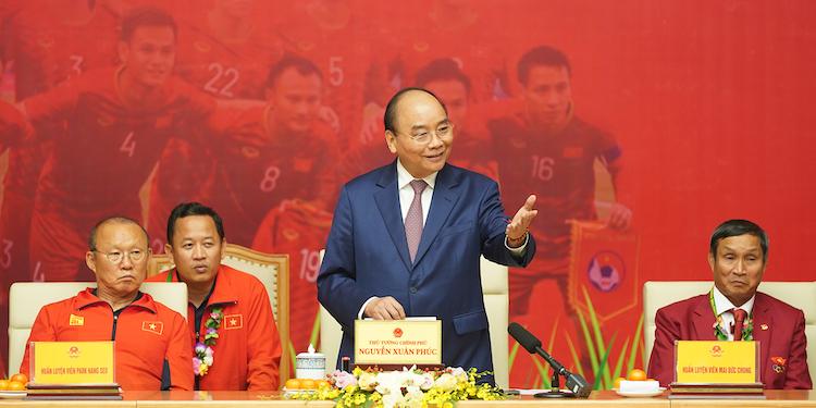 Thủ tướng phát biểu tại cuộc gặp. Ảnh: VGP