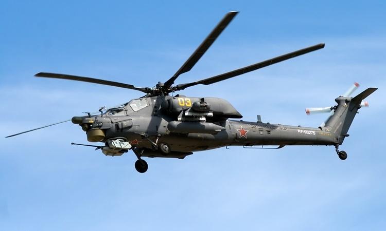 Rơi trực thăng quân sự Nga, 2 người chết - ảnh 1