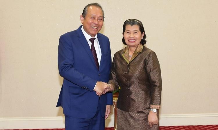 Campuchia cam kết hỗ trợ cộng đồng người gốc Việt - ảnh 1