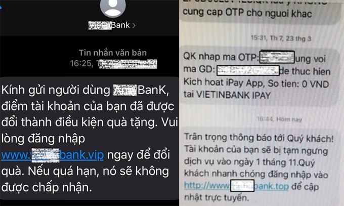 Bộ Công an cảnh báo thủ đoạn nhắn tin mạo danh ngân hàng - ảnh 1