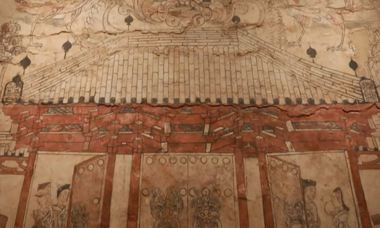 Bích họa 1.500 năm tuổi trong lăng mộ Trung Quốc -