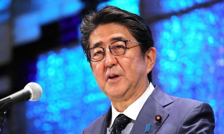 Thủ tướng Nhật Bản Shinzo Abe phát biểu tại Tokyo hôm nay. Ảnh: AFP.