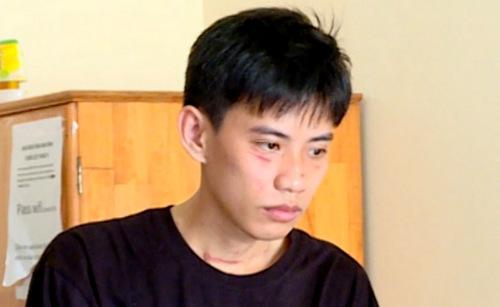 Nguyễn Giang Nam tại cơ quan công an. Ảnh: Quang Bình.