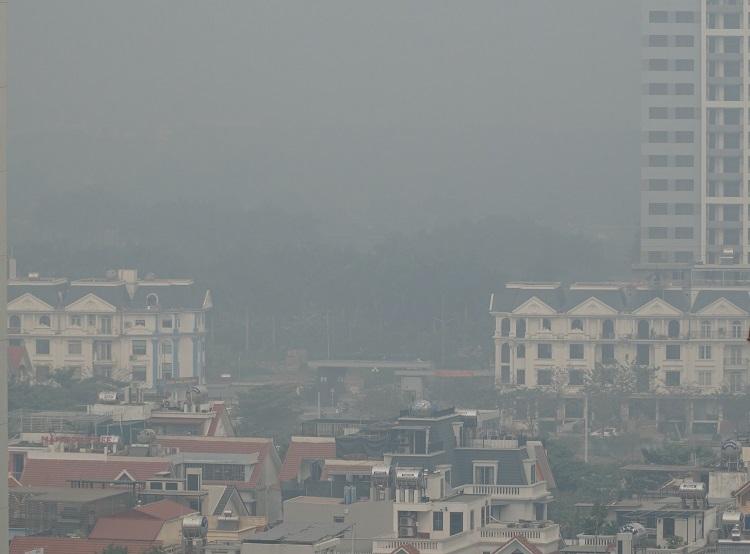 Ô nhiễm không khí ở Hà Nội trong năm 2019. Ảnh: Gia Chính